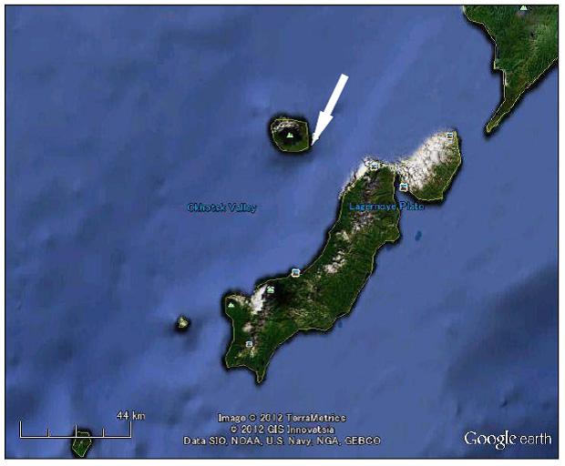 図3:Google Earth による図2の地図表示